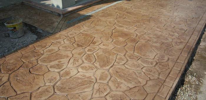 curte beton amprentat