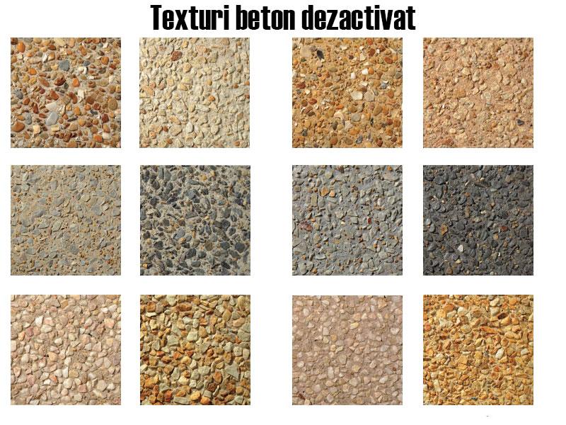 texturi si pietre beton dezactivat